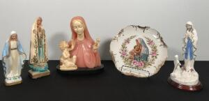 Lot of Mary Statues