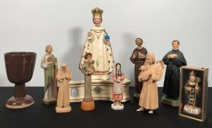 Lot of Catholic Statues and Figurines