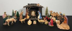Vintage Nativity Set