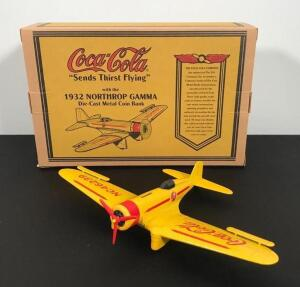 Coca Cola Die Cast Airplane Bank