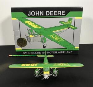John Deere Die Cast Airplane