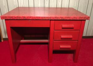 Decorated Metal Desk
