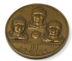 Apollo 11 Bronze Commemorative Medallion