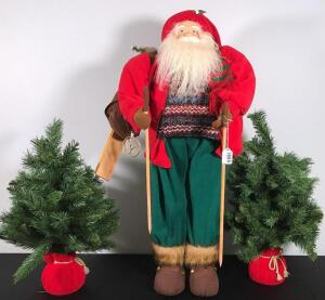"36"" Santa Claus and Trees"