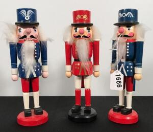 Lot of 3 Nut Crackers