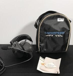 Light Speed Aviation Headset and Case