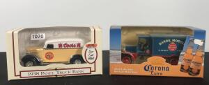 Lot of 2 Die Cast Collector Banks