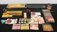 Gun Cleaning Kits, Vintage Hunting License, Scope and Related Items
