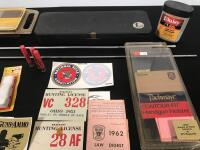 Gun Cleaning Kits, Vintage Hunting License, Scope and Related Items - 3