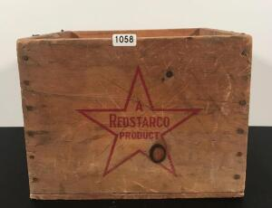 Vintage Red Star Co. Wooden Box