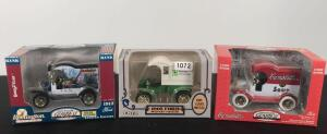 Lot of 3 Die Cast Collectible Banks