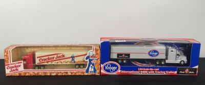 Lot of 2 Die Cast Collectible Semi's