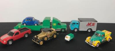 Flat of 7 Die Cast Collectible Cars