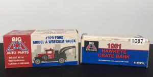 Lot of 2 Die Cast Collectible Banks