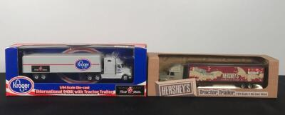 Lot of 2 Die Cast Collectible Tractor Trailers