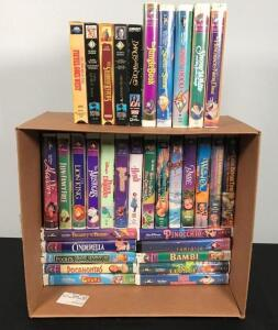 Large Lot of VHS Disney and Misc. Tapes