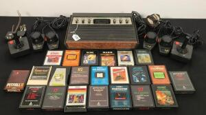 Vintage Atari Game System and Assorted Games