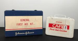 Lot of 2 Vintage First Aid Kits