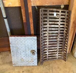 CI Fireplace Grate, Misc Plate