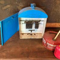 Vintage Breaker Box & 2 Gas Cans - 2
