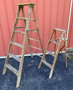 Wooden 4' & 6' Stepladders