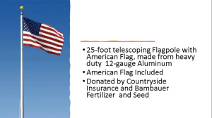 Flag Pole and Flags