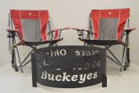 Buckeyes Fire Ring and Matching Camp Chairs