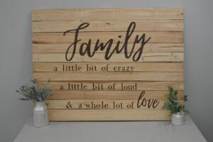 """Family"" Wood Pallet Sign"