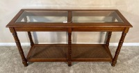 3 Glass Top Matching End tables - 2