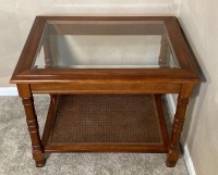 3 Glass Top Matching End tables - 3