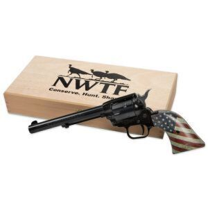 Heritage Rough Rider Revolver with custom flag handle and NWTF display box