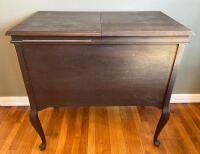 Antique Silvertone Victrola Record Cabinet & Records - 9