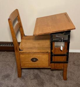 Child's Antique School Desk