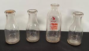 1 Sidney Dairy, 3- Saint Paris Pint Dairy Bottles