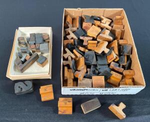 Lot of Assorted Typeset Stamps