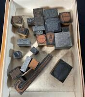 Lot of Assorted Typeset Stamps - 2