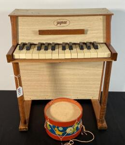 Jaymar Toy Piano & Toy Drum