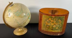 Globe & Antique Paper Holder