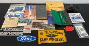 Ford Stickers, CI Truck, 1924 Blue Book, Etc.