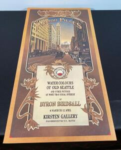 "Poster ""Water Colors of Old Seattle"" Byron Birdsall"