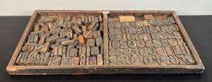 Lot of Vintage Numerical & Alphabetical Typeset Stamps