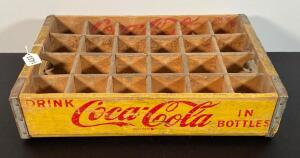 Vintage Yellow Coca Cola Bottle Crate