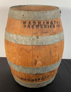 Vintage Washington Breweries Columbus Ohio Whiskey Barrel