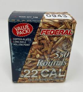 Federal .22LR 550 Rounds