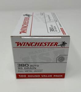 Winchester .380 Auto 100 Rounds