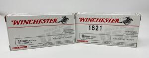 Winchester 9mm Luger 2 Boxes 100 Rounds