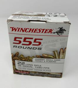 Winchester .22 LR new box 555 Rounds