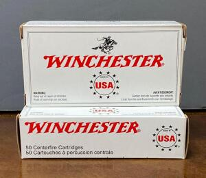 Winchester 9 mm Luger 2 boxes, 100 rounds