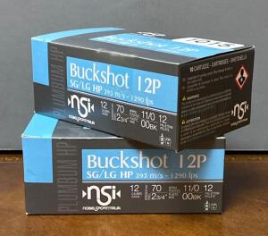 "Buckshot 12p 2 3/4"" Shotgun Shells 2 Boxes"