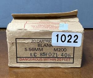 5.56 mm M 200 blank Cartridges Quantity 80